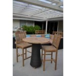 35″ Round Bar Table With 2 Avalon Bar Chairs By Anderson Teak