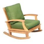 Regency Teak Sonoma Deep Seating Rocking Chair Canvas Fern