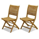 Dublin Teak Folding Chair Set With Chanasya Polish Cloth