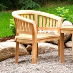 Extra Thick Wood Curve Armchair – Unfinished