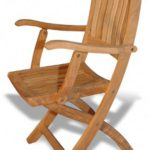 Teak Folding Chair with arms – PAIR