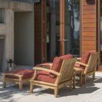 Regency Teak Sonoma Deep Seating 3 Piece Arm Chair Set Canvas Fern
