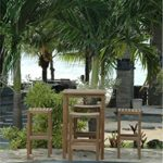 Anderson Teak Set-113B – No Cushion 27″ Square Bar Table & New Montego Bar Chair Set