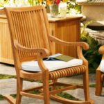 Grade-A Teak Wood Outdoor Patio Garden Rocker / Rocking Arm Chair [Model:GV]